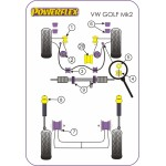 VW Golf Mk2 Diagram 2wd models